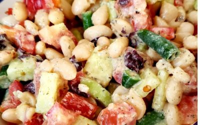 Protein-Packed Mediterranean White Bean Salad